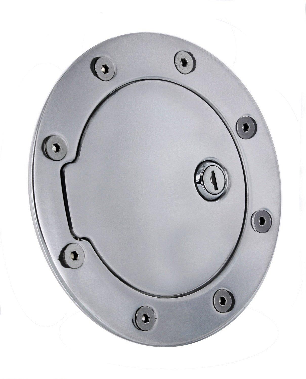 AllSales Mfg, Inc 6091KL Black Billet Aluminum Ring and Locking Fuel Door AllSales Mfg.