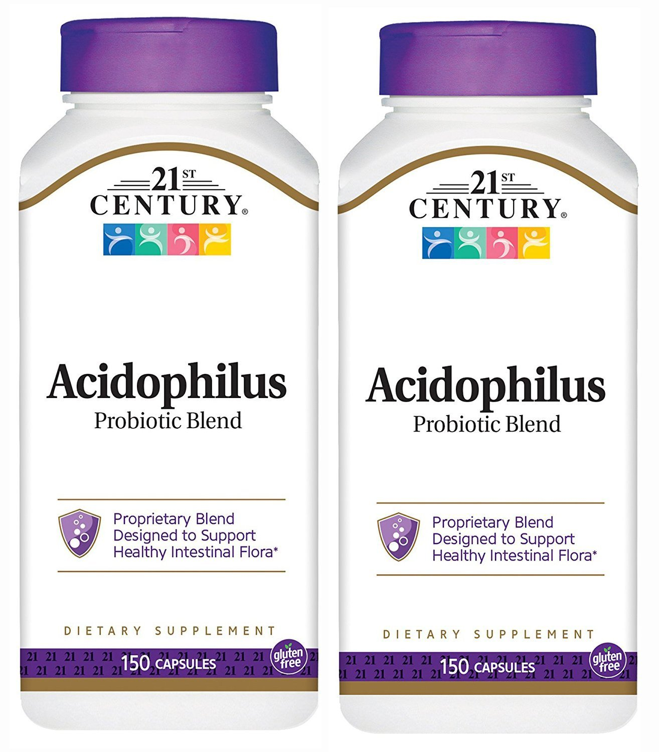 21st Century Acidophilus Probiotic Blend Capsules, 150-Count (Pack of 2)