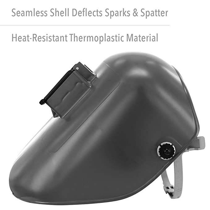 Fibre-Metal by Honeywell Tigerhood Classic Thermoplastic Welding Helmet with Speedy Loop Hard Hat Mount, Gray (5906GY) - - Amazon.com