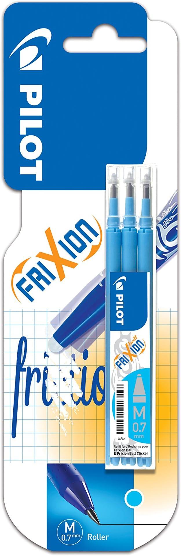 3 unidades, tinta azul Recambios para Bls-Fr7-Lb Pilot Frixion