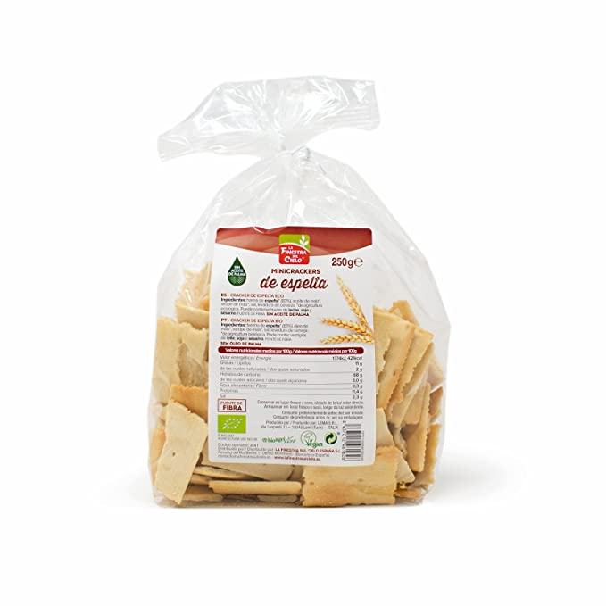 La Finestra Sul Cielo Mini Crackers de Espelta - 250 gr