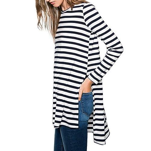 Desshok - Camisas - Cuello redondo - Manga Larga - para mujer