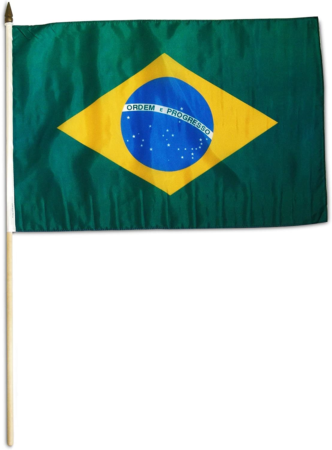 US Flag Store Brazil Flag, 12 by 18-Inch