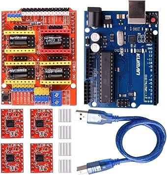 kuman Módulo de expansión para Arduino CNC Shield V3.0 + R3 + 4 ...