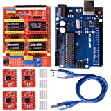 kuman CNC Shield Expansion Board V3.0 +UNO R3 Board + A4988 Stepper Motor Driver with Heatsink for Arduino Kits K75 (CNC…
