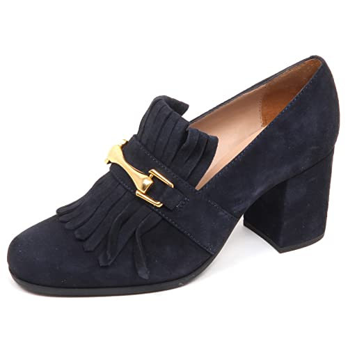 huge selection of 5dc49 7d96d UNISA E6478 Decollete Donna Blu OLIMPO Scarpe Frange Suede ...