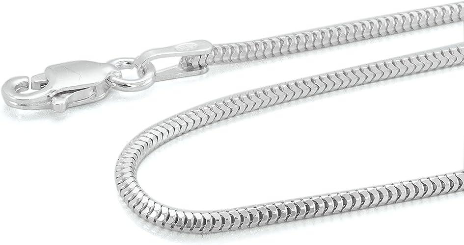 925 Sterling Silber Halskette Damen Schlangen kette 40 60 cm Lange 1 mm Necklace