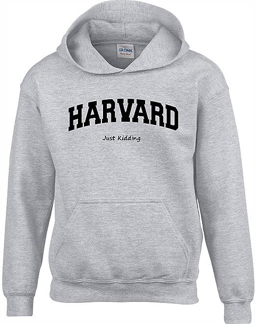Crown Designs Harvard Just Kidding Gracioso Sudaderas Unisex de Regalo para Hombres Mujeres y Adolescentes: Amazon.es: Ropa y accesorios