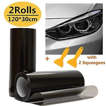 30*100cm Black 1 Sheet Car Fog Light Headlight Taillight Tint Vinyl Film Sticker