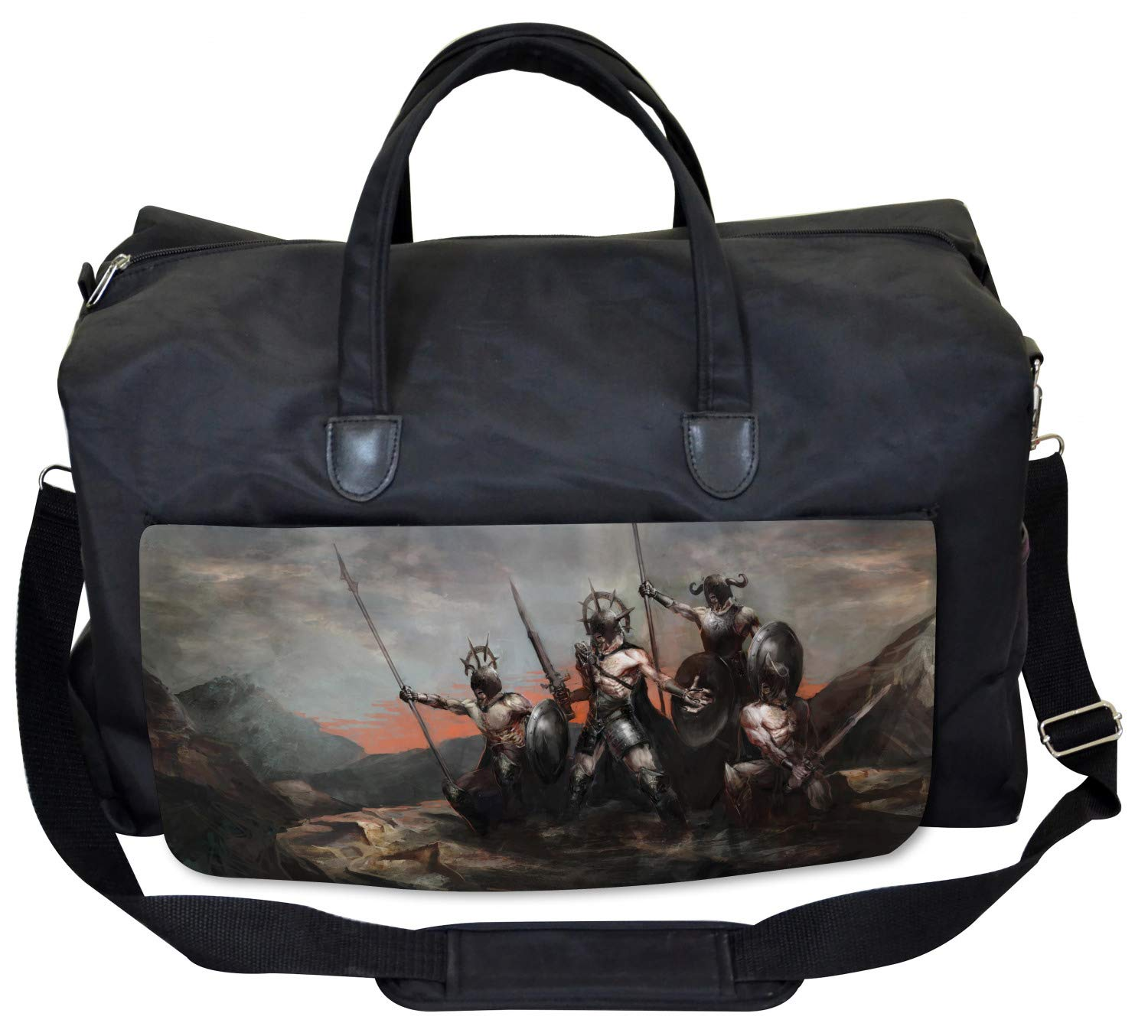 Large Weekender Carry-on Medieval Figure Ambesonne Fantasy Gym Bag