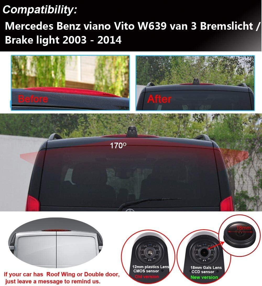 4,3 TFT LCD Monitor f/ür Mercedes Benz Viano Vito W639 Van 3 Brake Light 2003-2014 Kalakus Auto Dritte Bremsleuchte Kamera wasserdichte Bremslicht R/ückfahrkamera mit Nachtsicht Transporter