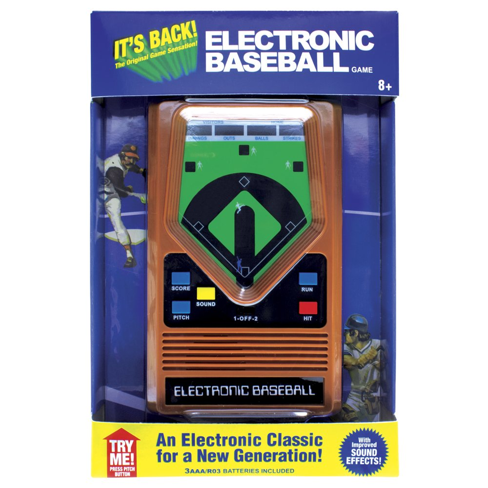 Electronic Retro Sports Game Assortment: Baseball Electronic Games by Basic Fun