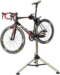Bikehand Tripod Bike Repair Stand - Home Portable Bicycle Mechanics Workstand - Great for Mountain Bikes and Road Bikes Maintenance