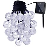 Amazon Price History for:GDEALER Solar String Lights 20ft 30 LED White Crystal Ball Waterproof Outdoor String Lights Solar Powered Globe Fairy String Lights for Garden, Home, Landscape, Christmas Decoration (1)