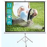 ivolum Stativleinwand 200 x 200cm Nutzfläche | Format 1:1 | mobile Beamer-Leinwand in wenigen Minuten Auf-/Abgebaut | Als Heimkino-Leinwand oder Leinwand für das Büro nutzbar |