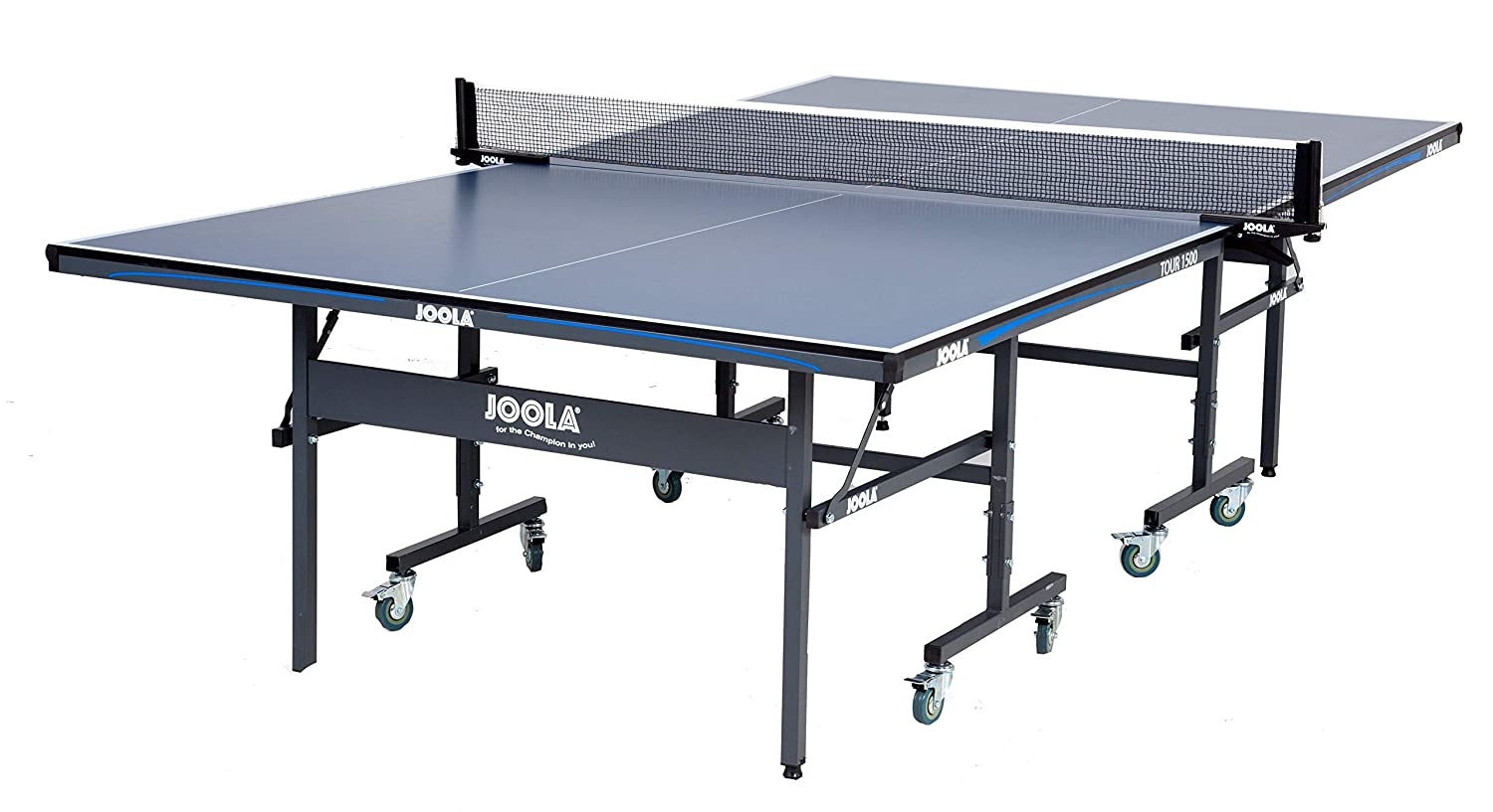 JOOLA Tour   Competition Grade MDF Indoor Table Tennis Table With Quick  Clamp Ping Pong Net Set   10 Minutes Easy Assembly   USATT Approved   Ping  Pong ...