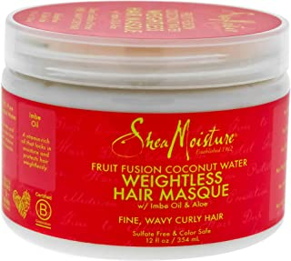 product image for Shea Moisture Fruit Fusion Coconut Water Weightless Hair Masque, 12 Ounce