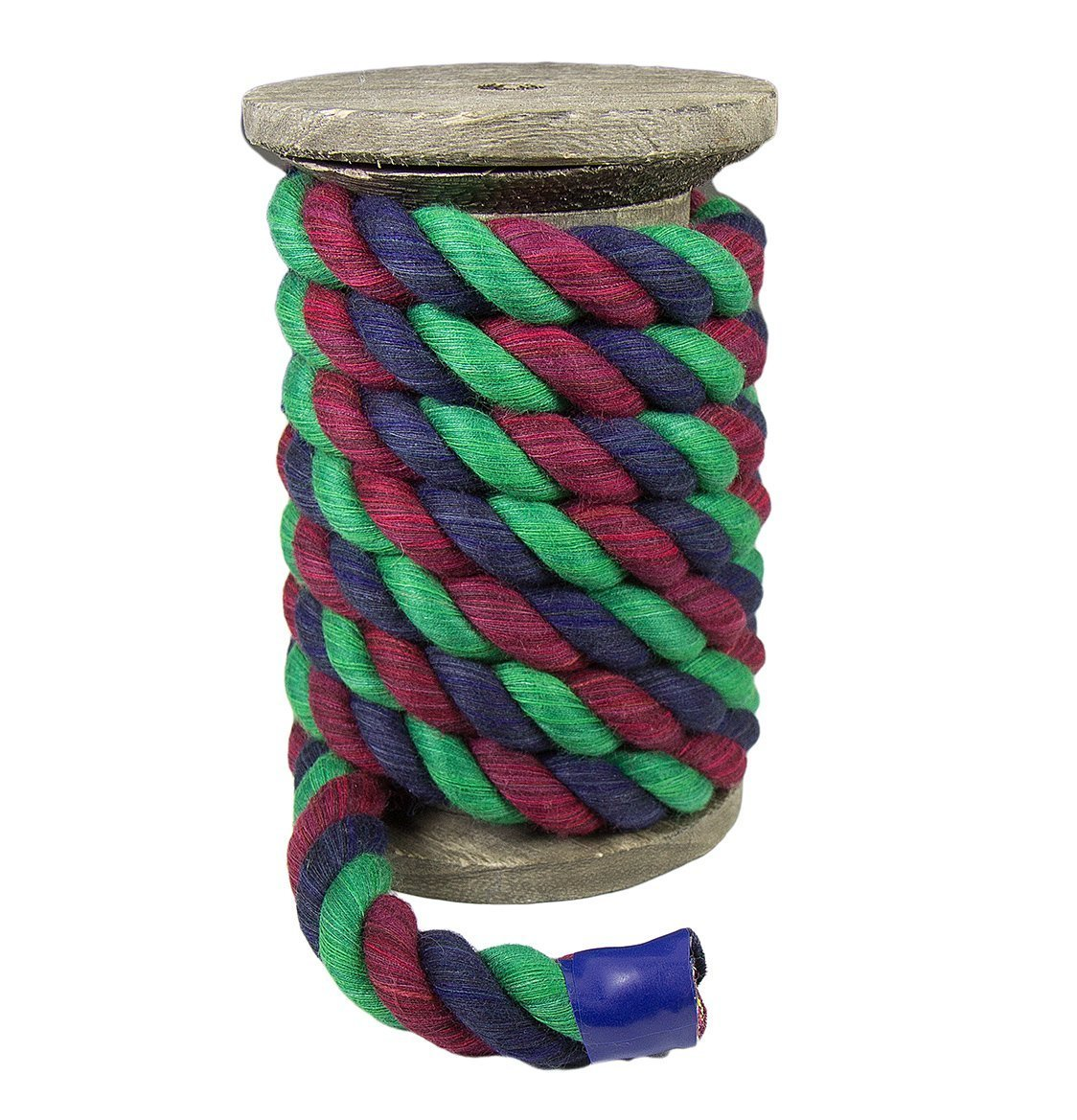 Custom Color Triple-Strand Rope and Cordage for Sport Pet Toys Ravenox Colorful Twisted Cotton Rope by The Foot and Diameter Made in The USA D/écor Macram/é and Indoor Outdoor Use Crafts