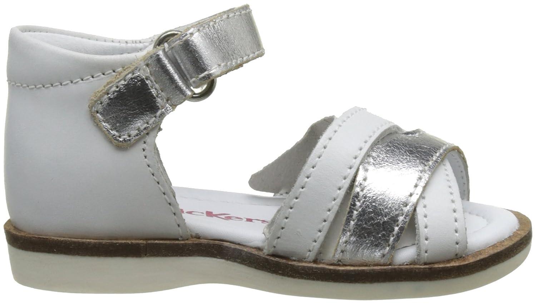 5643a6ae4c109a Kickers Gigi, Sandales bébé Fille, (Blanc Argent), 23 EU: Amazon.fr:  Chaussures et Sacs