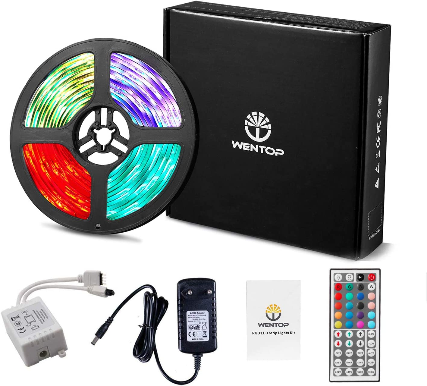 WenTop LED Strip 5m Kit LED Streifen RGB LED Leiste