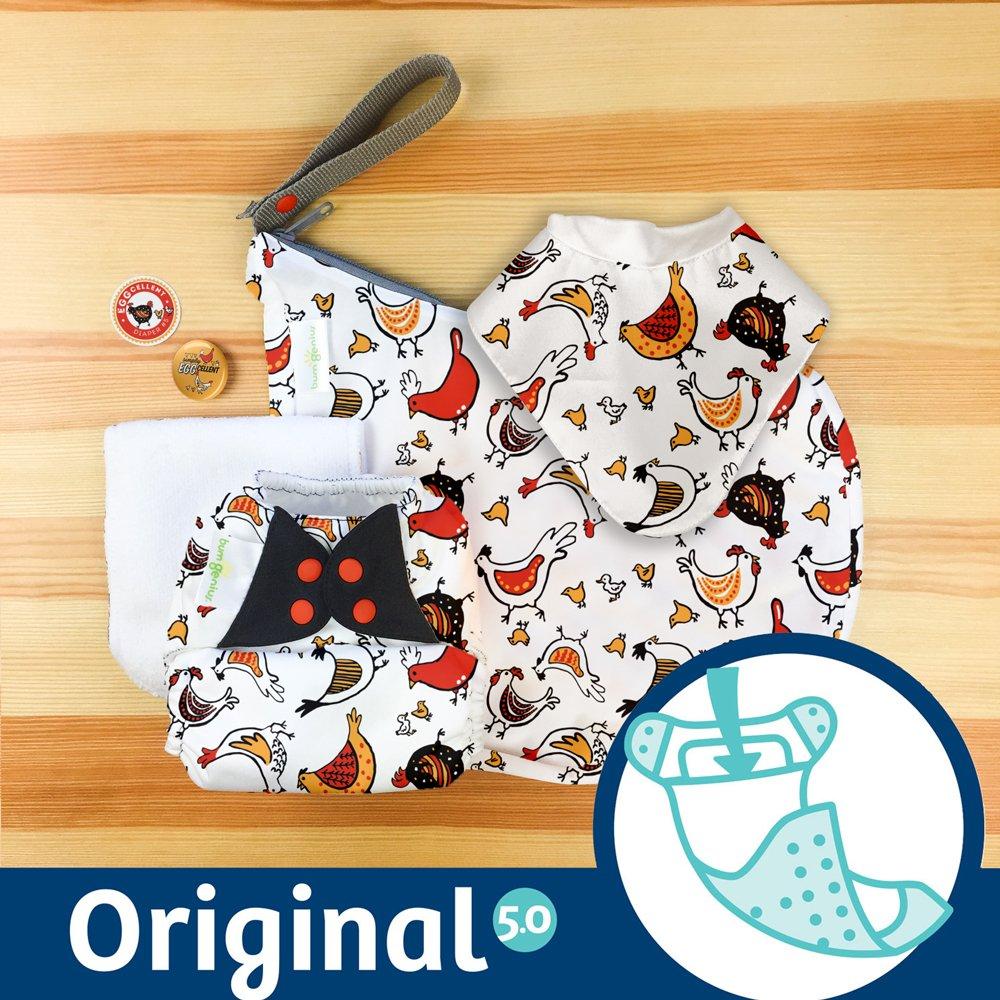 bumGenius Original One-Size Pocket-Style Cloth Diaper 5.0 (Wolfgang) Cotton Babies bG5