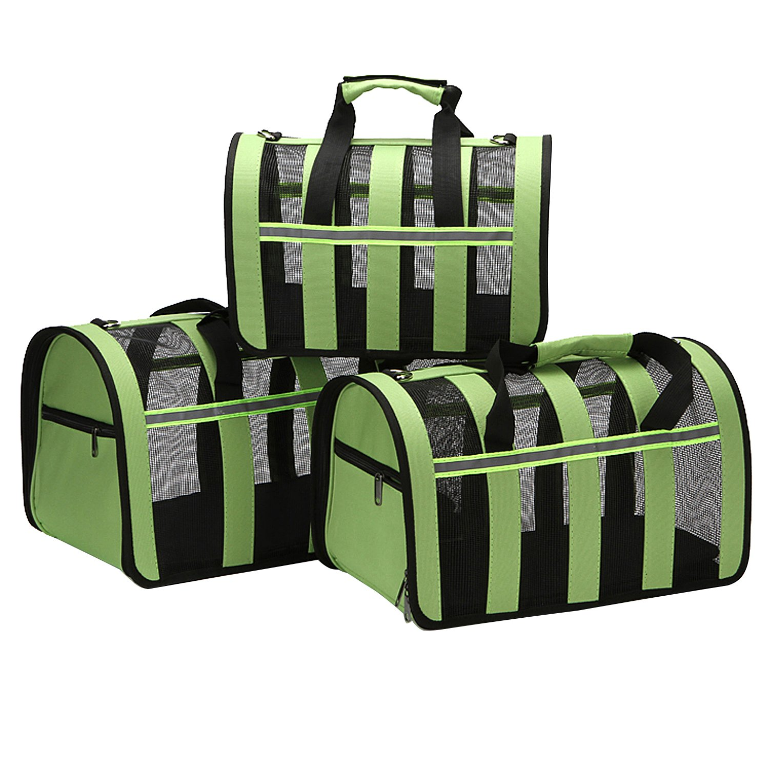 Pet Deluxe Portable Pet Carrier-Small Animals Travel Carrier, Soft Sided Tote Bag Purse,Airline Approved, Perfect for Small Dogs,Puppy, Cats (S) by Pet Deluxe (Image #3)