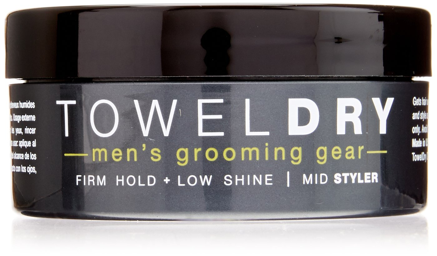 Towel Dry Mid Styler Paste for Men, 2.5 Ounce