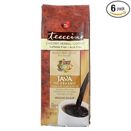 Amazon.com : Teeccino Organic Java Medium Roast Mediterranean ...