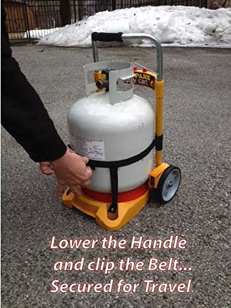 Propane Tank Carrier Cylinder Dolly Easy Cart for Tanks, Heaters ...