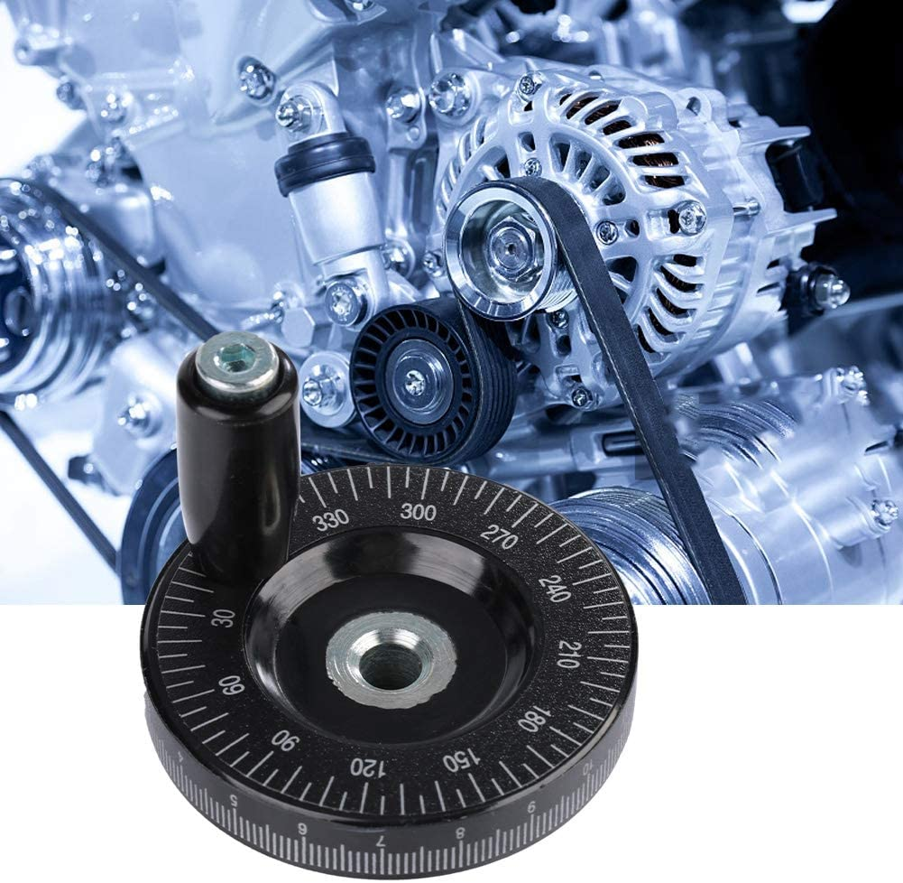 Oumefar Rotating Scales Anti Slip Thread 63mm Hand Wheel Hand Wheel for milling Machine for Grinders