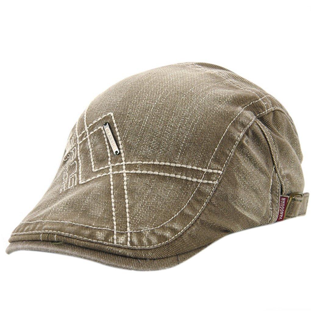 mulUoレディースメンズプレーンシンプルスタイルベレー帽キャップベレー帽スポーツ刺繍帽子  アーミーグリーン B071DP4SGW