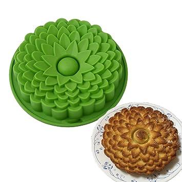 ODN silicona Girasol pie, Tart Fiesta de cumpleaños Flan Pan de molde para hornear Cocina (verde): Amazon.es: Hogar