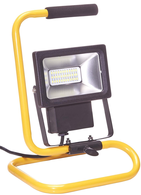Northpoint LED Baustrahler 20W Arbeitsleuchte Bauscheinwerfer 1600 Lumen 2m Netzkabel inkl. Standgestell und Tragegriff (1 Stück) [Energieklasse A+] 61136-3