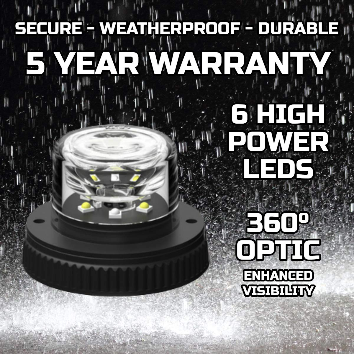 Clear//Clear SpeedTech Lights Flare 6 360/° LED Hideaway Strobe Lights//Surface Mount Flashing Warning Light Bulbs for Emergency Vehicles