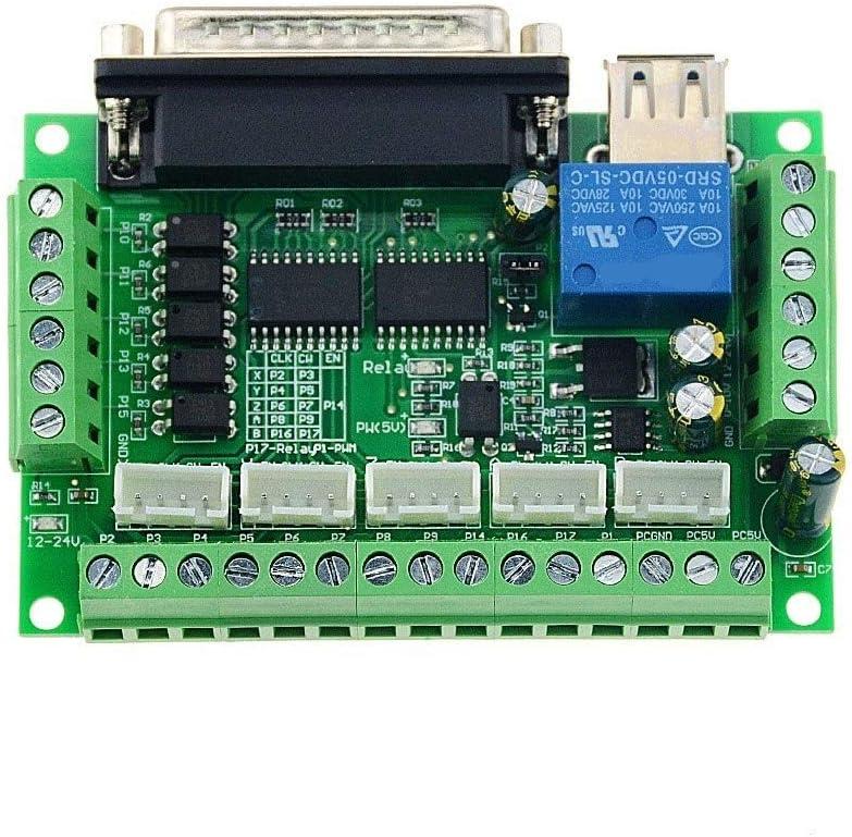 L-Yune,bolt 1pc MACH3 máquina de Grabado del variador de 5 Ejes CNC del desbloqueo del acoplador óptico Bordo con Motor Paso a Paso for Cable USB Sin