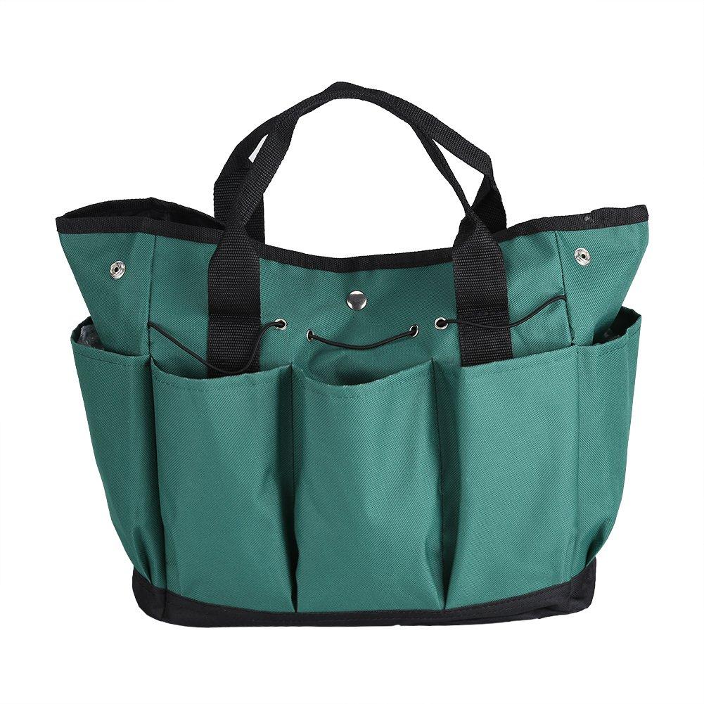 Estink Garden Tools Tote,600D Thickening Oxford Cloth Garden Tools Organizer Bag Gardener Portable Tote Bag Compact Tools Storage Organizer Bag(Dark Green)