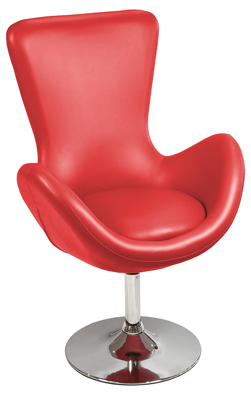 Febland Bucket Racing Chair, Faux Leather, Red FW464R