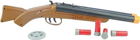 ¡Prepárese para tomar el salvaje oeste con este arma doble del tiro de Barrell!,Con efectos de sonid