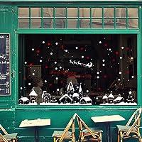 Malloom Noël Magasin Fenêtre Décoration Stickers Muraux Noël Flocons De Neige Ville