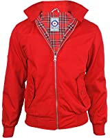 Gensen Men's Harrington Mod Jacket Button Collar