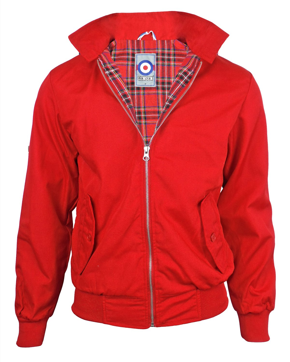 Gensen Men's Harrington Mod Jacket Button Collar JD Harrington