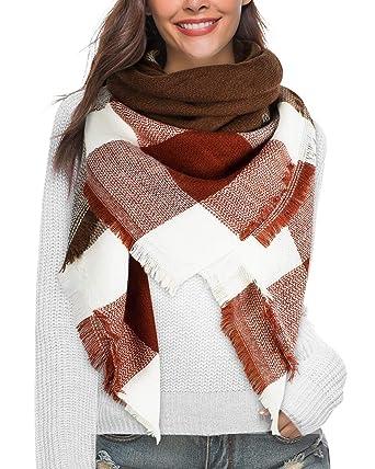 nouveau authentique vêtements de sport de performance divers styles heekpek Écharpe Chale Femme Cachemire Chaud Automne Hiver Grand Plaid Tissu  Glands Foulard