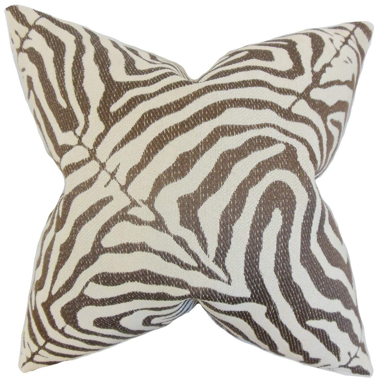 The枕コレクションOluchi Zebra Print床枕ココア   B076HDKXC4