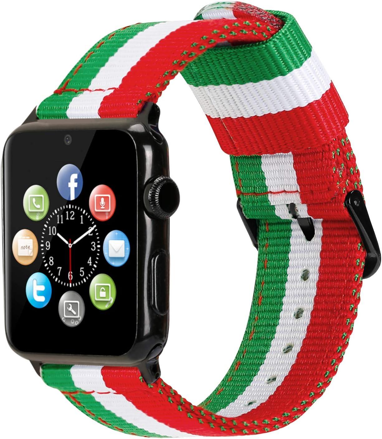 Estuyoya Nylon Armband Kompatibel Mit Apple Watch Elektronik