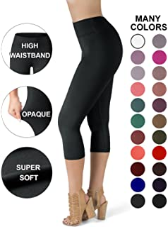 52ba2efe9d5c9b SATINA High Waisted Super Soft Capri Leggings - 20 Colors - Reg & Plus Size