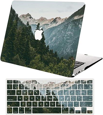 ACJYX MacBook Pro 13 Pouces Coque 2020 2019 2018 2017 2016 Version A2289 A2251 A2159 A1989 A1708 A1706 Coque De Protection en Plastique Ordinateur Portable pour MacBook Pro 13 Grain De Bois