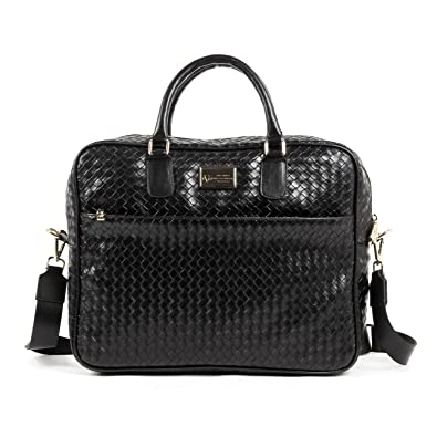 76a1027ecb2c V 1969 Italia Mens Bag V1969019B BLACK  Amazon.co.uk  Shoes   Bags
