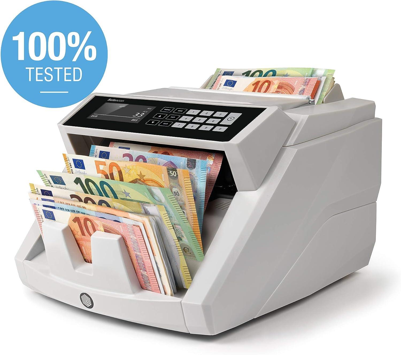 Safescan 2465-S - Contadora totalizadora de billetes. Cuenta billetes de euro mezclados . Detección 7 puntos. Certificada 100%
