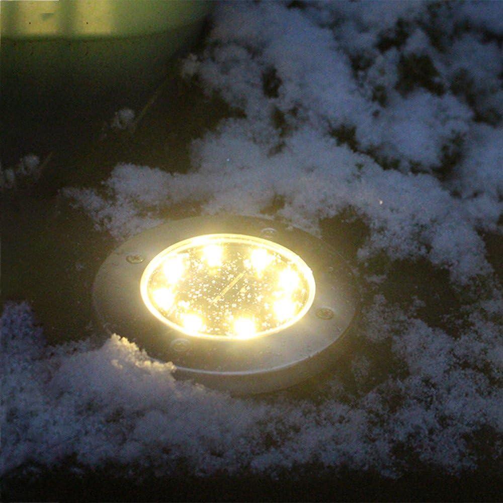 Garden Pathway Outdoor In-Ground Lights with 8 LED WensLTD Solar Ground Lights
