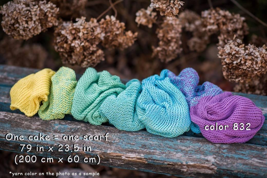 ZuzuHobby Unique Cotton Yarn, Multicolor, Wonderful Knitting Roll, Hand Knitting, Crocheting, 9,88 Ounces / 984 Yards (811) by ZuzuHobby (Image #4)